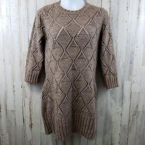 Fenn Wright Manson Womens Sweater Dress Brown